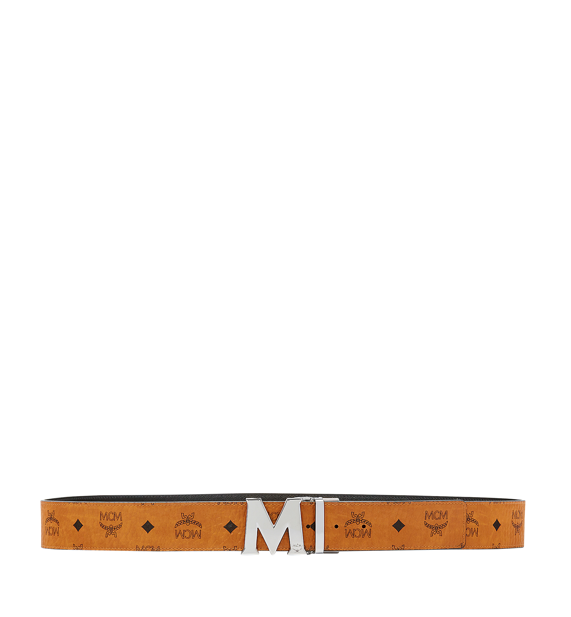 MCM Visetos 系列的 Claus M 1.75 吋可翻轉皮帶 Cognac MXB6AVI03CO001 更多視圖 2