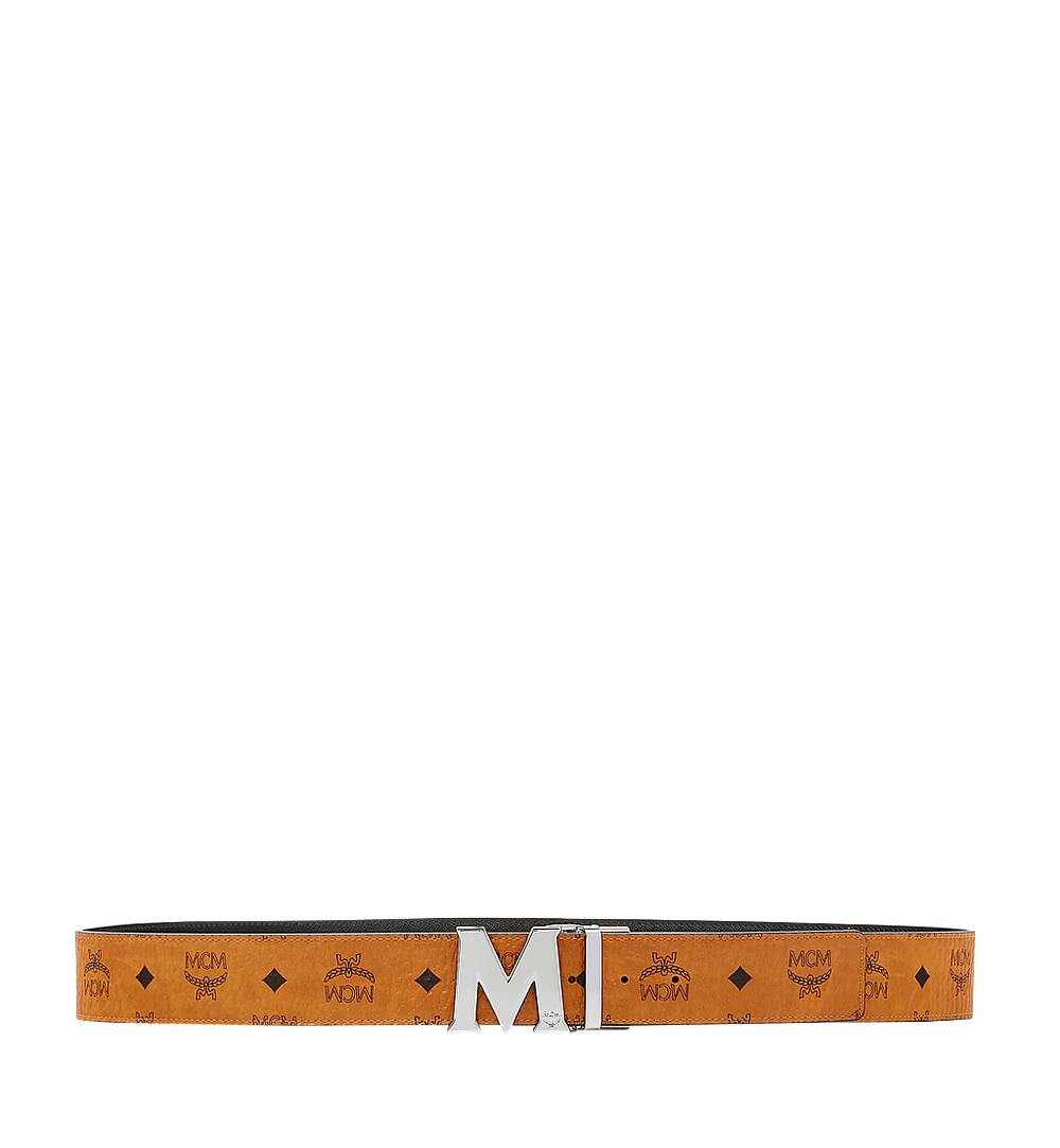 "MCM Claus M Reversible Belt 1.75"" in Visetos Cognac MXB6AVI03CO001 Alternate View 2"