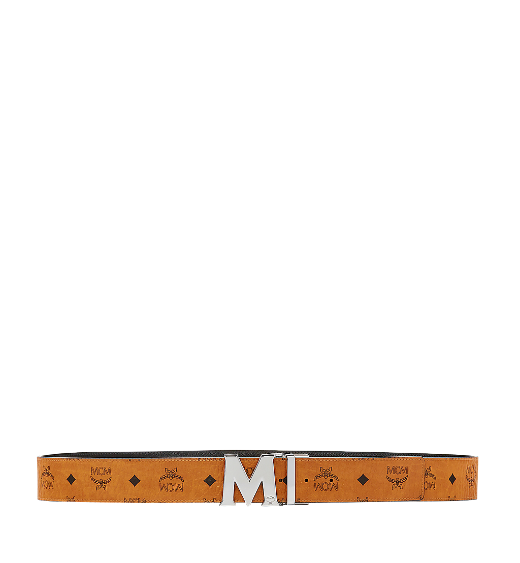 MCM Claus M Reversible Belt 4.5 cm in Visetos Cognac MXB6AVI03CO001 Alternate View 2