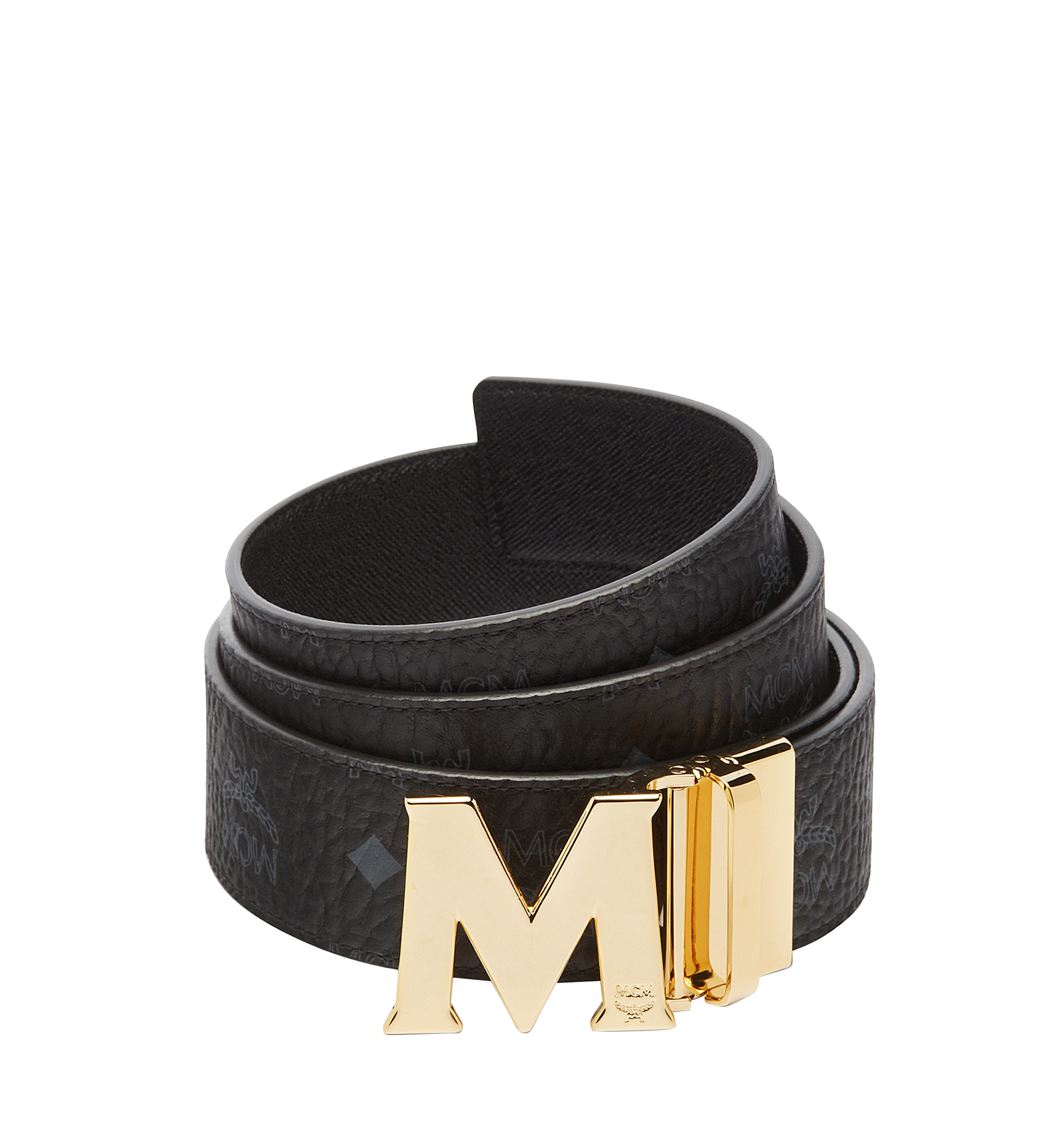 MCM Claus Reversible Belt 4.5 cm in Visetos Black MXB6AVI04BK001 Alternate View 1