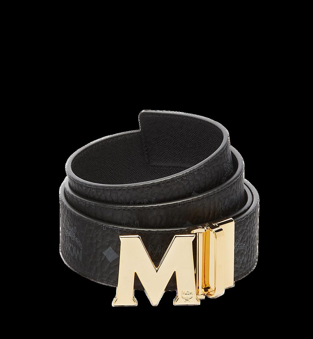 "MCM Claus M Reversible Belt 1.75"" in Visetos Black MXB6AVI04BK001 Alternate View 1"