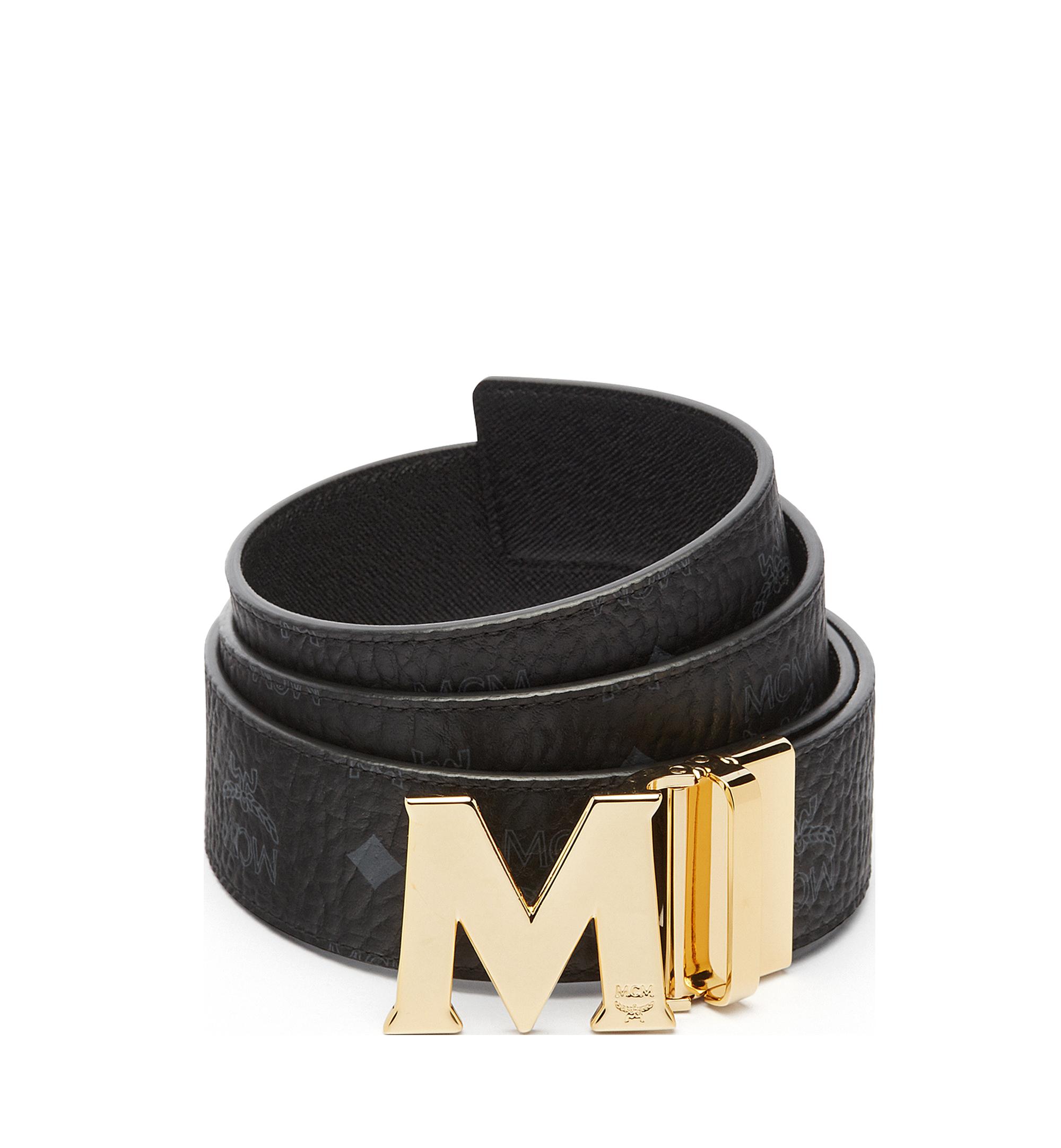 "MCM Claus Reversible Belt 1.75"" in Visetos Black MXB6AVI04BK001 Alternate View 1"