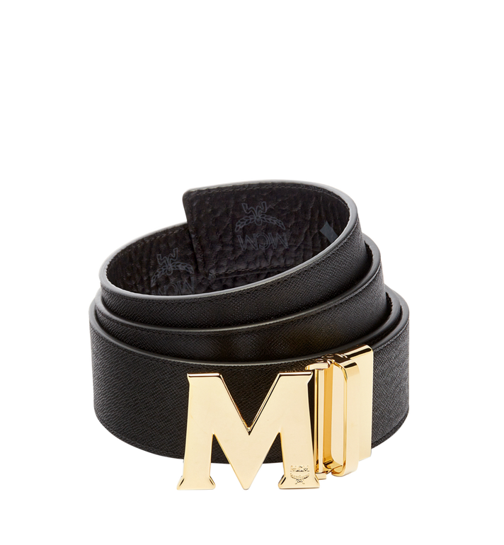 "MCM Claus Reversible Belt 1.75"" in Visetos Black MXB6AVI04BK001 Alternate View 2"
