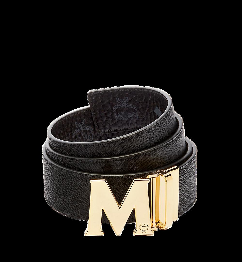 MCM Visetos 系列的 Claus 1.75 吋可翻轉皮帶 Black MXB6AVI04BK001 更多視圖 1