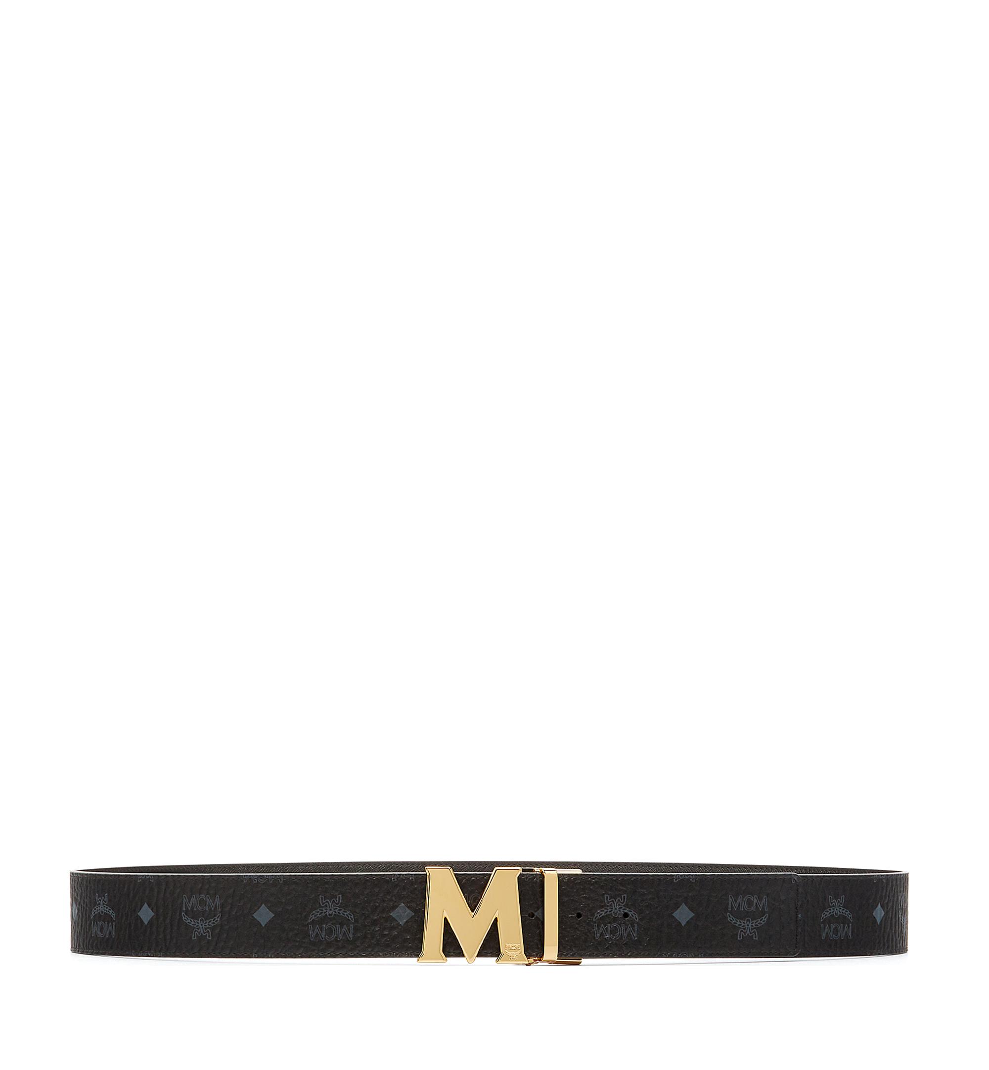 "MCM Claus M Reversible Belt 1.75"" in Visetos Black MXB6AVI04BK001 Alternate View 3"