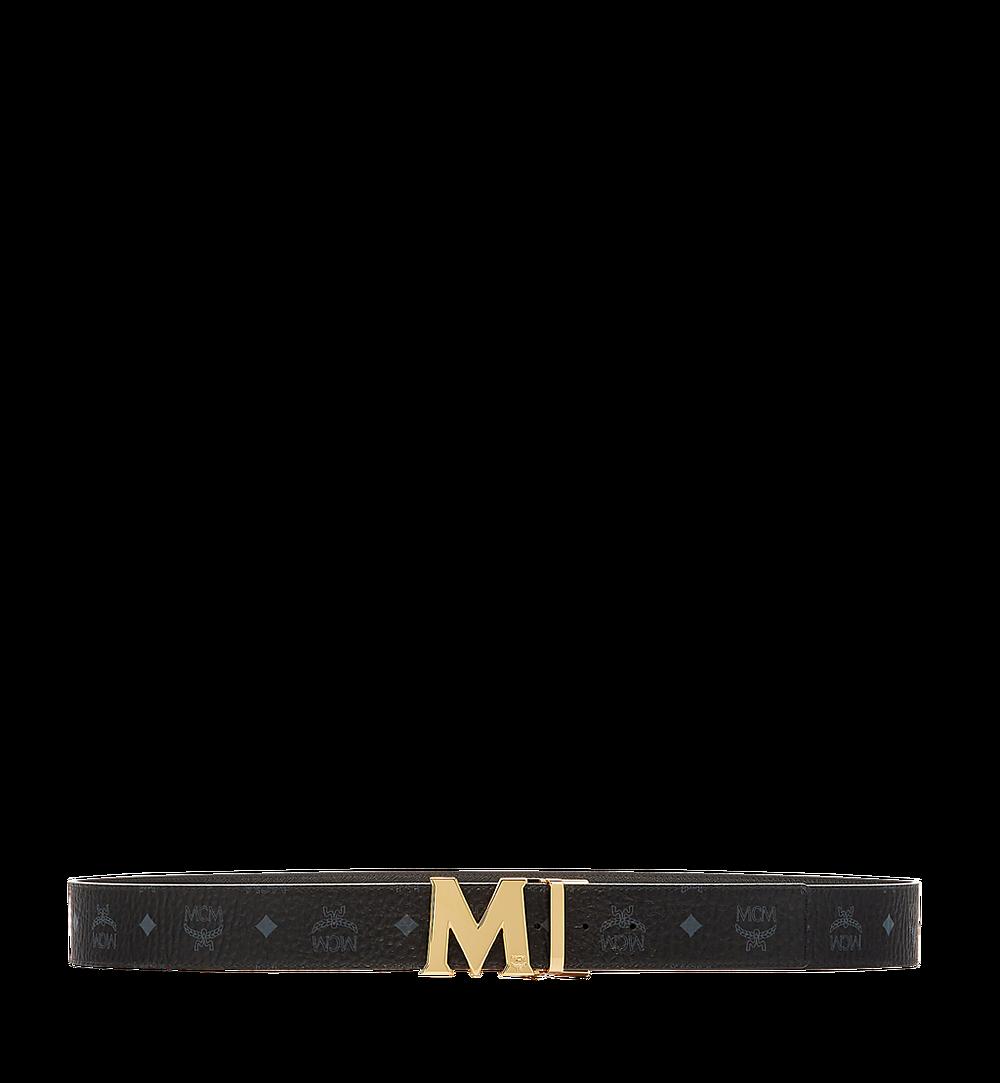 MCM Claus Reversible Belt 4.5 cm in Visetos Black MXB6AVI04BK001 Alternate View 2