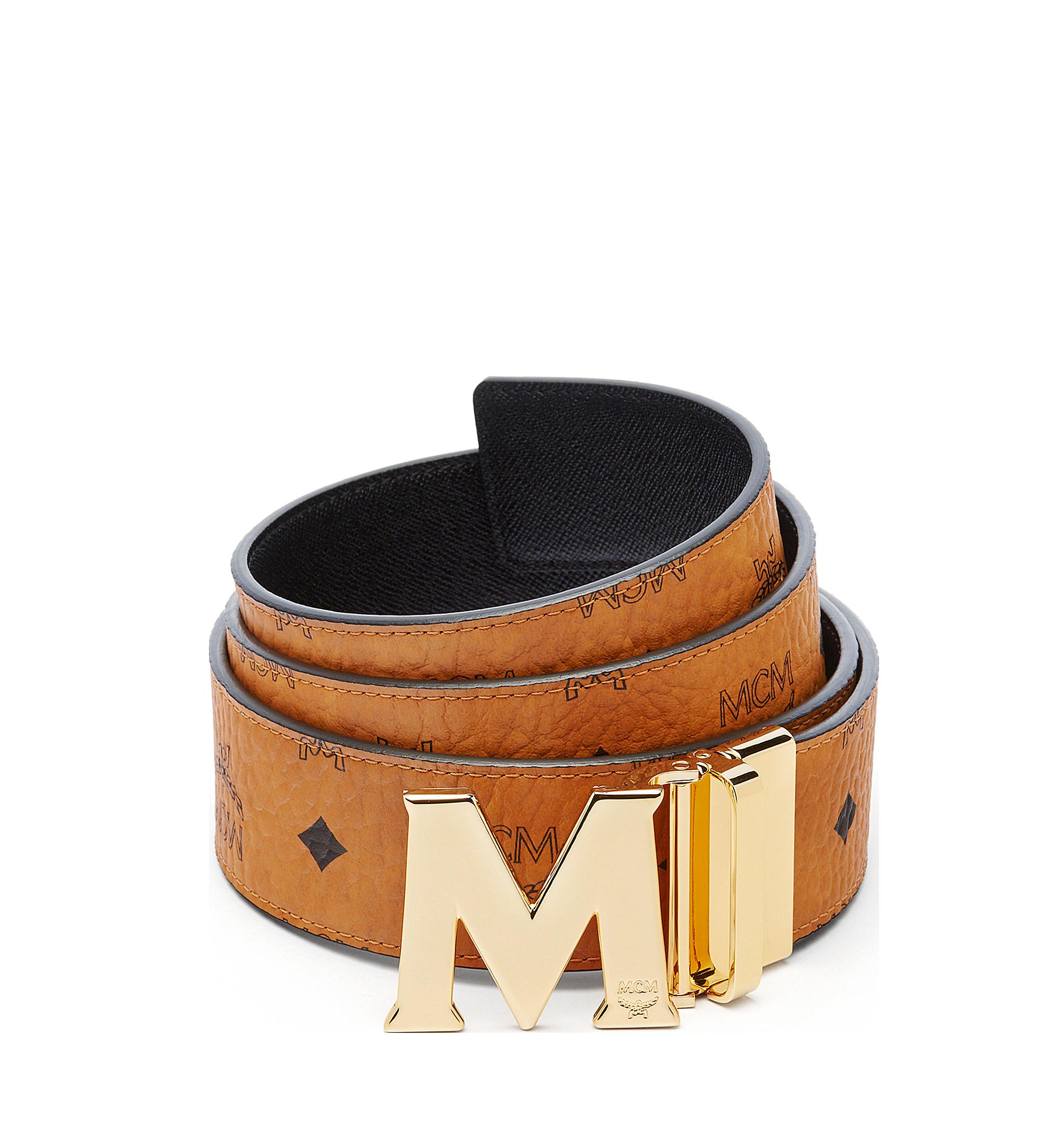 MCM Visetos 系列的 Claus M 1.75 吋可翻轉皮帶 Cognac MXB6AVI04CO001 更多視圖 1