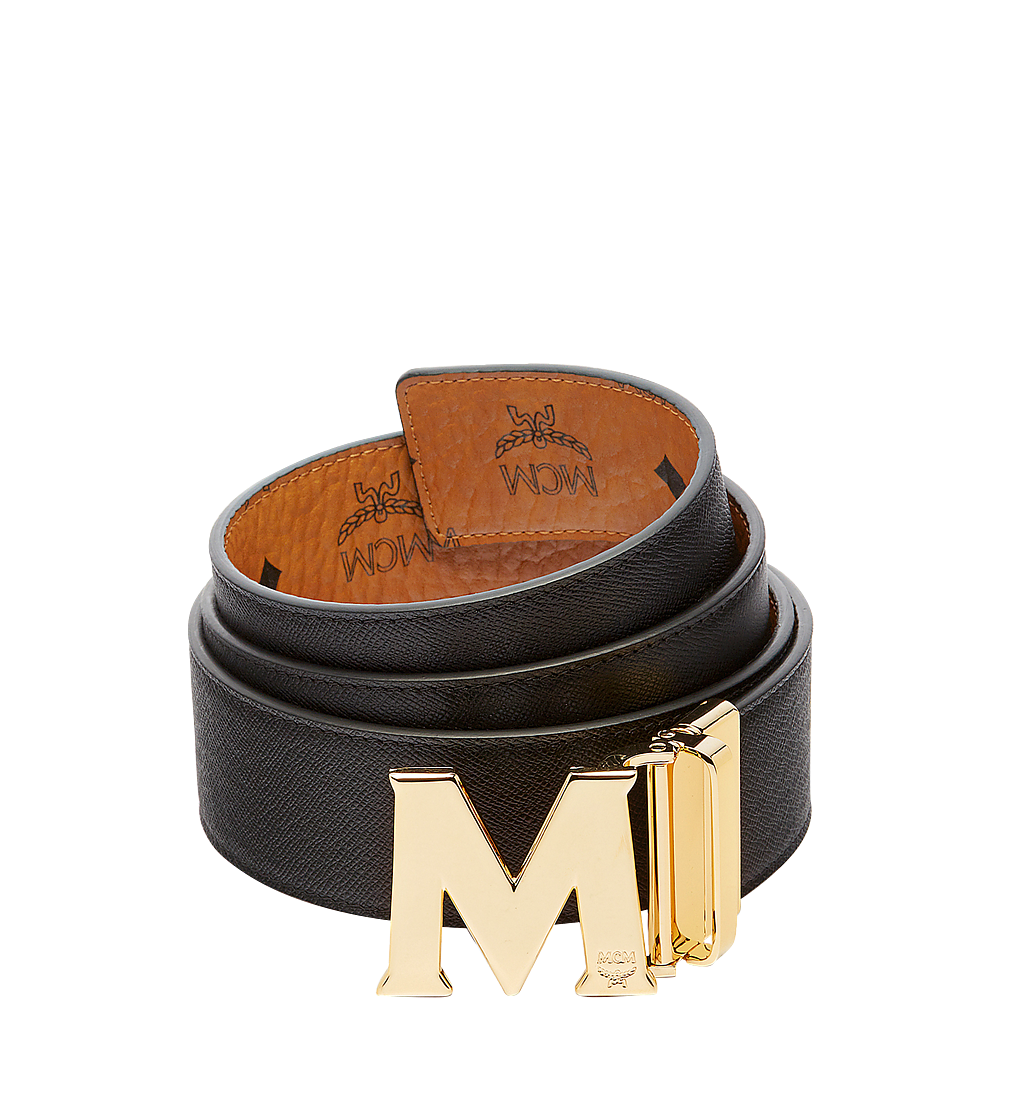 MCM Claus M Reversible Belt 4.5 cm in Visetos Cognac MXB6AVI04CO001 Alternate View 1