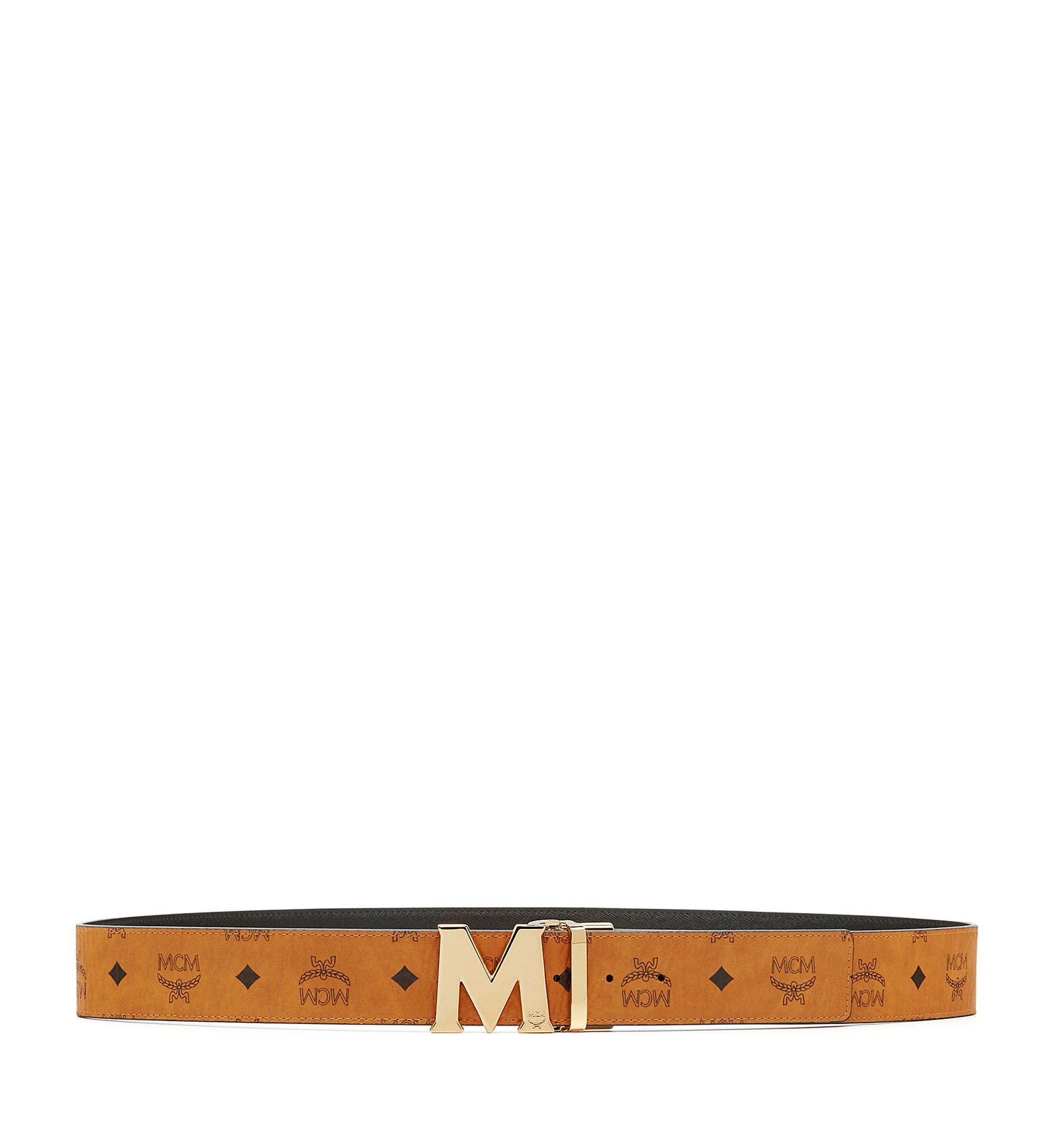 MCM Visetos 系列的 Claus M 1.75 吋可翻轉皮帶 Cognac MXB6AVI04CO001 更多視圖 2