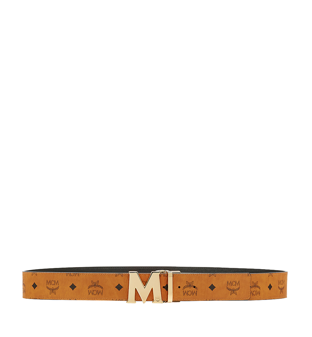 MCM Claus M Reversible Belt 4.5 cm in Visetos Cognac MXB6AVI04CO001 Alternate View 2