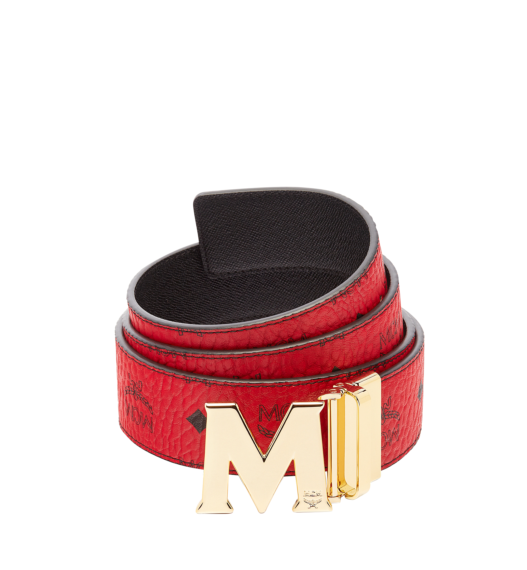 "MCM Claus M Reversible Belt 1.75"" in Visetos Red MXB6AVI04RU001 Alternate View 1"