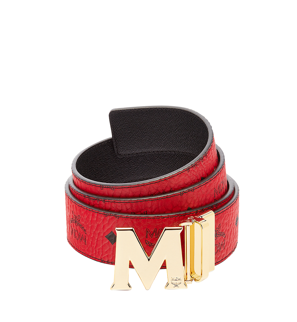 "MCM Claus M Reversible Belt 1.75"" in Visetos Red MXB6AVI04RU001 Alternate View 1"