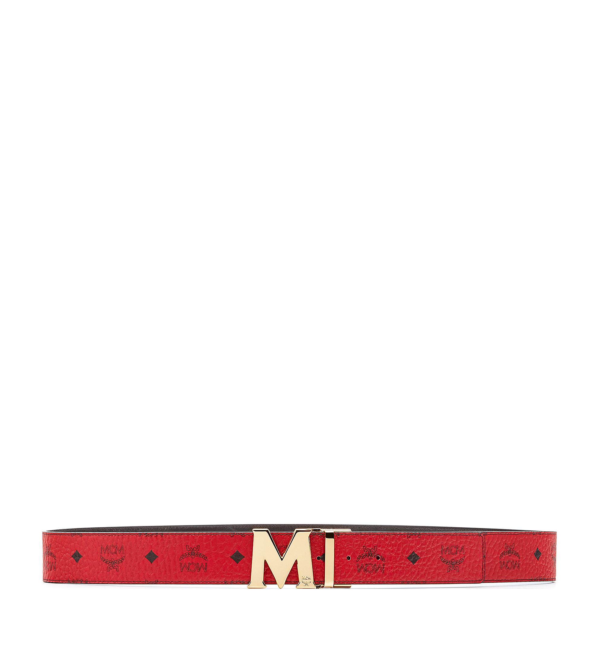 "MCM Claus M Reversible Belt 1.75"" in Visetos Red MXB6AVI04RU001 Alternate View 2"