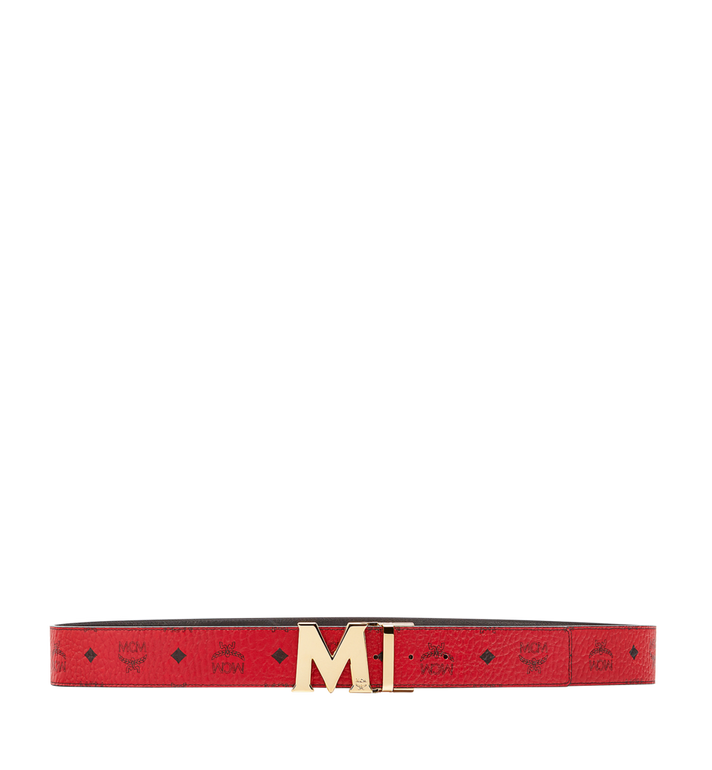 "MCM Claus M Reversible Belt 1.75"" in Visetos Red MXB6AVI04RU001 Alternate View 3"