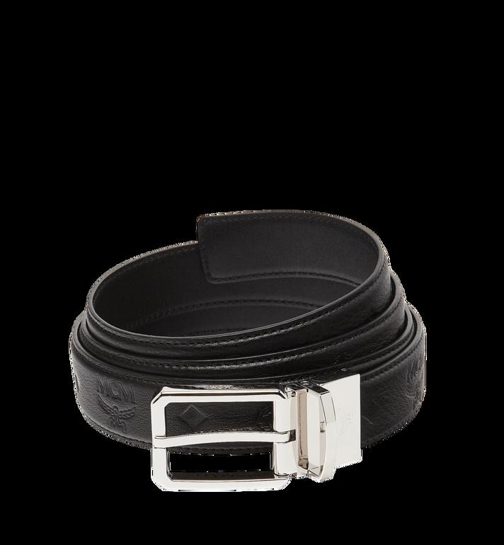 "MCM Reversible Dress Belt 1.2"" in Monogram Leather MXB7ADB13BK001 AlternateView"
