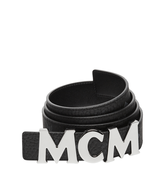 "MCM MCM Letter Belt 1.5"" in Visetos MXB7AMM08BK110 AlternateView"