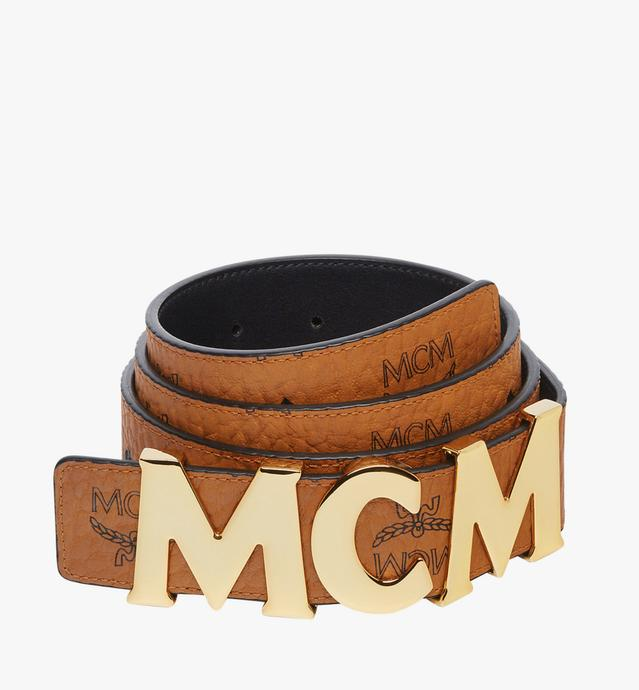 "MCM Letter Belt 1.5"" in Visetos"