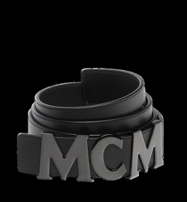 "MCM MCM Letter Belt 1.5"" in Nappa Leather MXB7AMM10BK130 AlternateView"