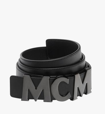 """MCM Letter Belt 1.5"""" in Nappa Leather"""