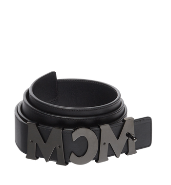 "MCM MCM Letter Belt 1.5"" in Nappa Leather MXB7AMM10BK130 AlternateView2"