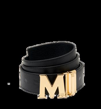 "MCM Claus M Reversible Belt 1.75"" in Monogram Leather MXB7AMM18BK130 AlternateView"