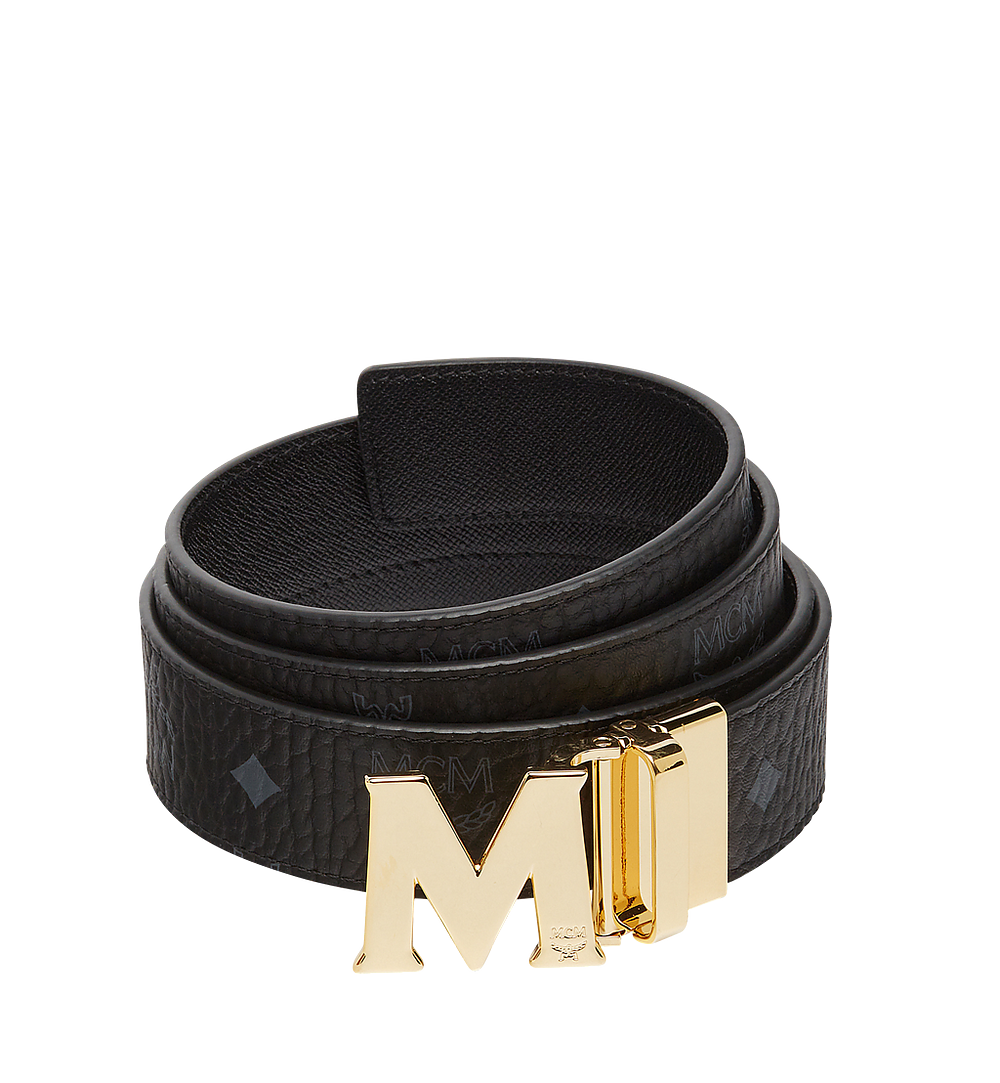 MCM Claus M Reversible Belt 3.8 cm in Visetos Black MXB7AVI05BK001 Alternate View 1