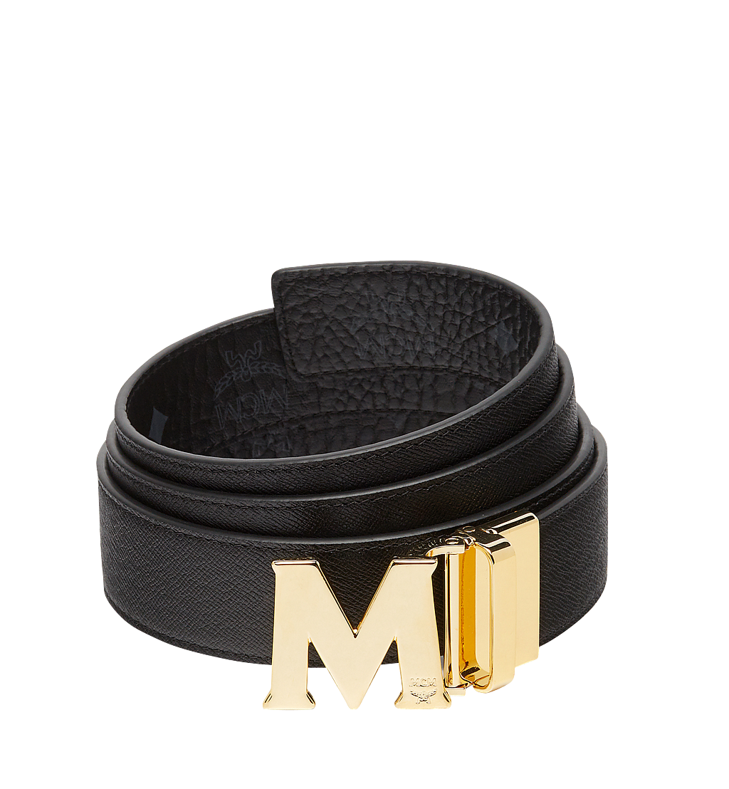 "MCM Claus M Reversible Belt 1.5"" in Visetos Black MXB7AVI05BK001 Alternate View 1"
