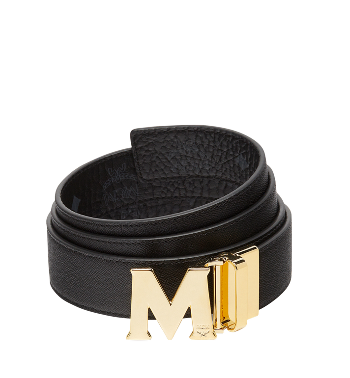 "MCM Claus M Reversible Belt 1.5"" in Visetos Black MXB7AVI05BK001 Alternate View 2"