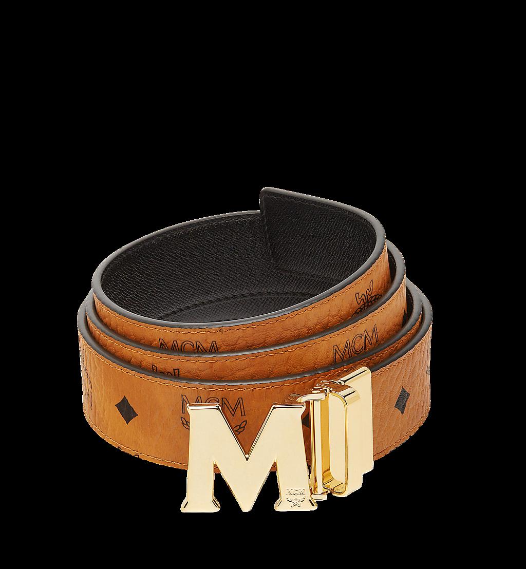 MCM Claus M Reversible Belt 3.8 cm in Visetos Cognac MXB7AVI05CO001 Alternate View 1