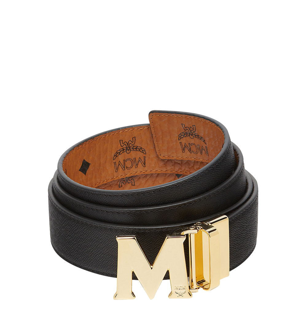 MCM Claus M Reversible Belt 3.8 cm in Visetos Cognac MXB7AVI05CO001 Alternate View 1