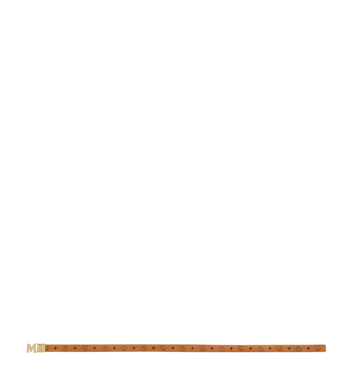 "MCM Claus M Reversible Belt 1.5"" in Visetos Cognac MXB7AVI05CO001 Alternate View 3"
