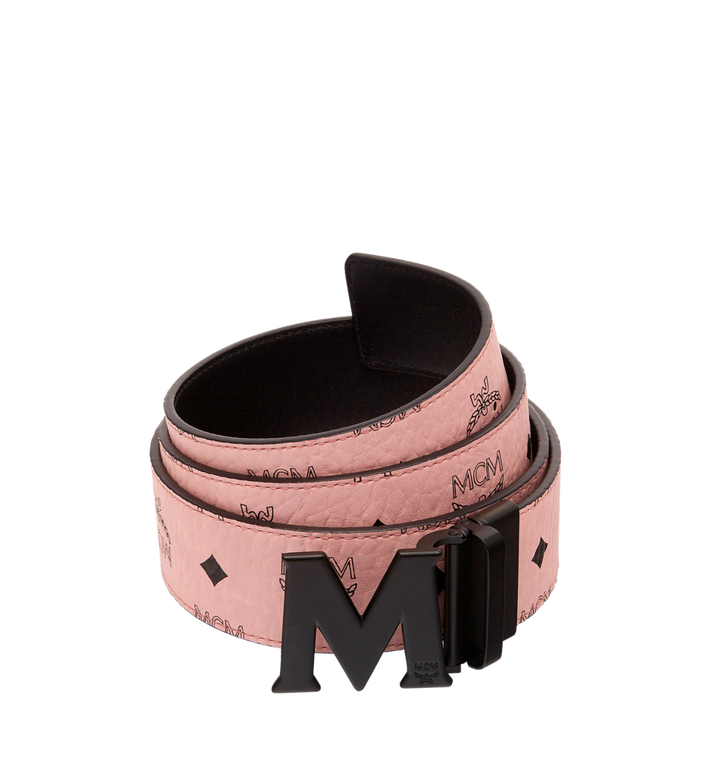 "MCM Claus Black M Reversible Belt 1.75"" in Visetos MXB7AVI10PZ001 AlternateView"