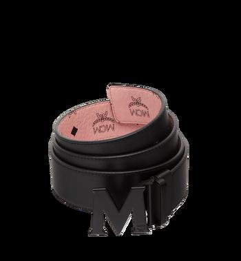 "MCM Claus Black M Reversible Belt 1.75"" in Visetos MXB7AVI10PZ001 AlternateView2"