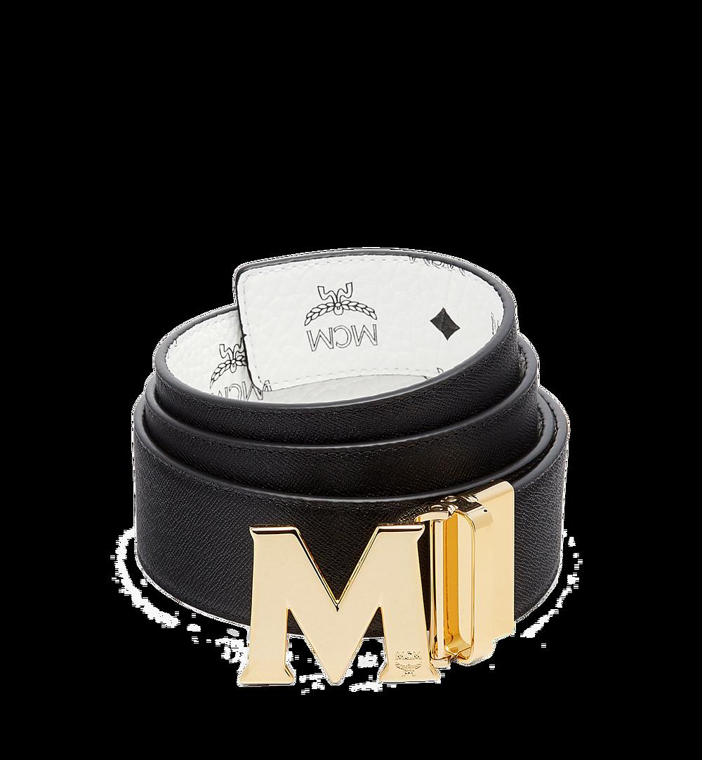 MCM Visetos 系列的 Claus M 1.75 吋可翻轉皮帶 White MXB7SVI04WT001 更多視圖 1