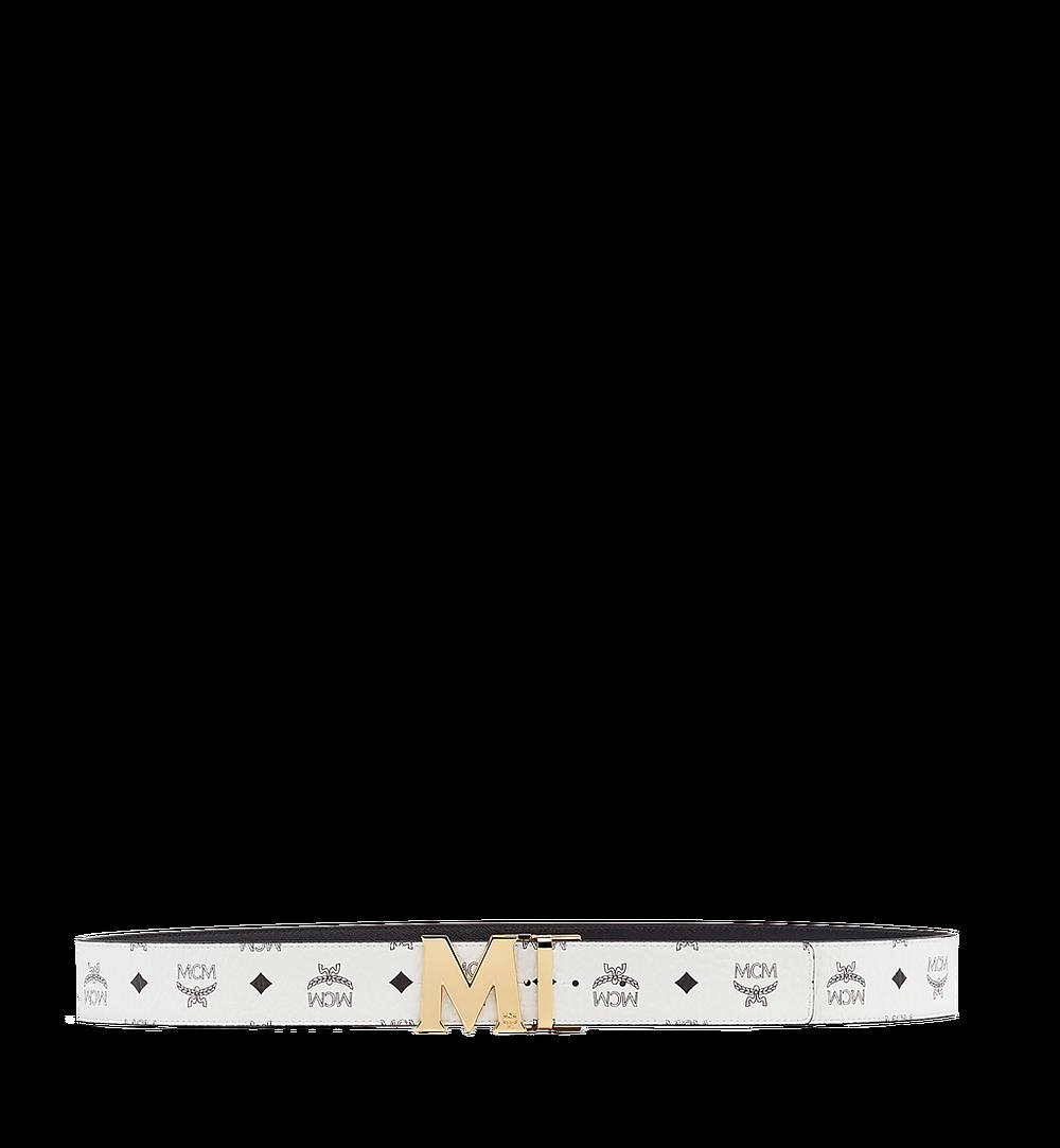MCM Visetos 系列的 Claus M 1.75 吋可翻轉皮帶 White MXB7SVI04WT001 更多視圖 2