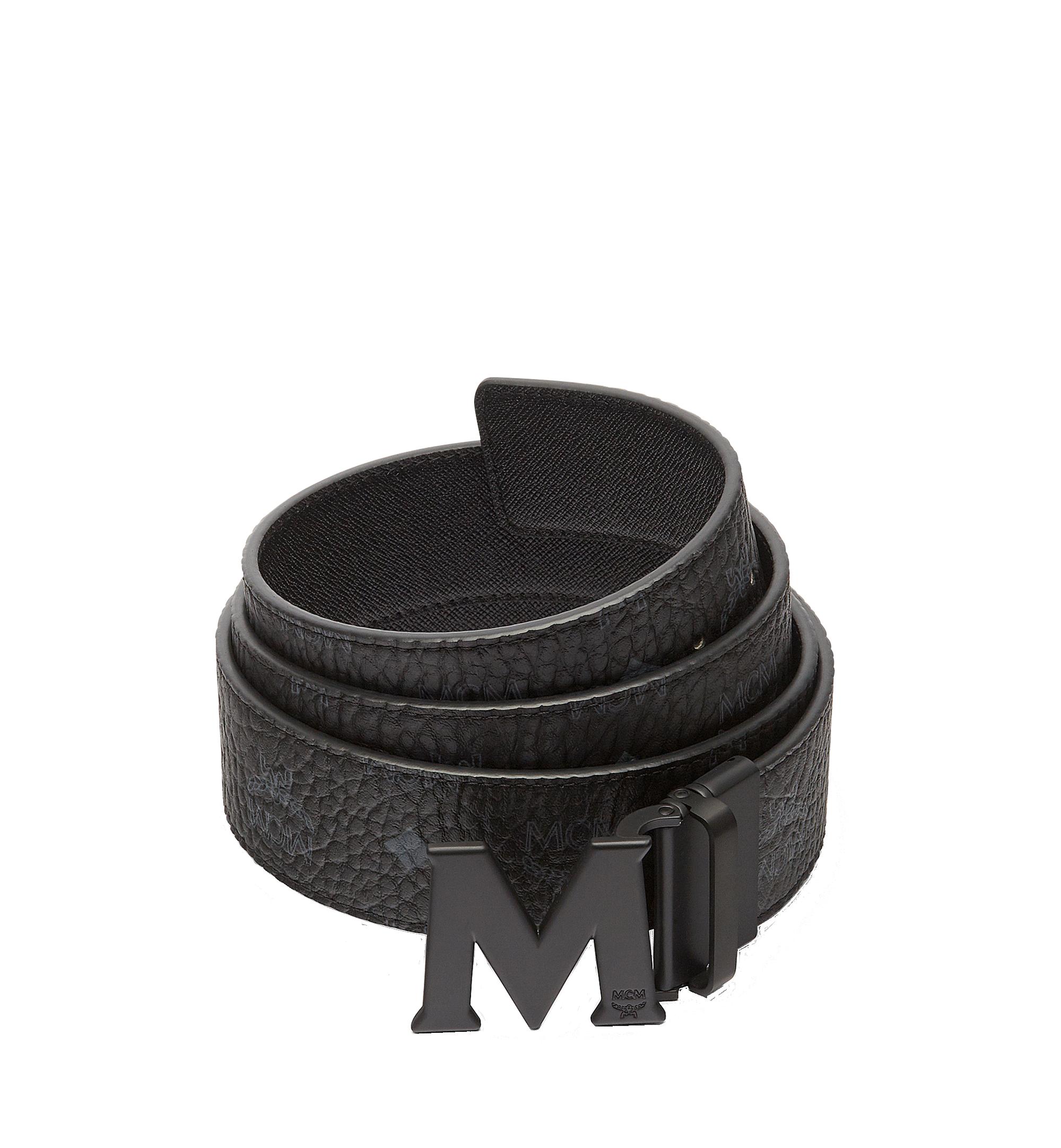 "MCM Claus M Reversible Belt 1.75"" in Visetos Black MXB7SVI10BK001 Alternate View 1"