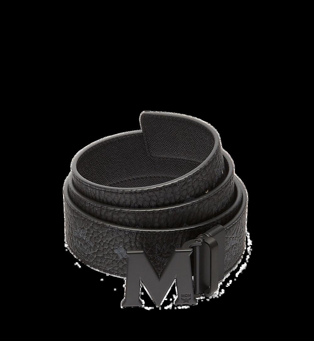 MCM Claus M Reversible Belt 4.5 cm in Visetos Black MXB7SVI10BK001 Alternate View 1
