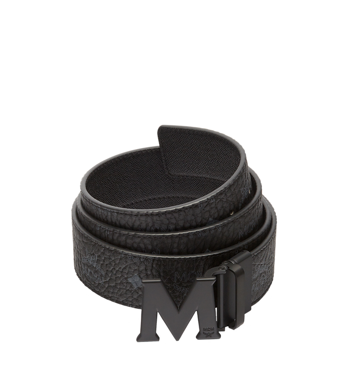 "MCM Claus M Reversible Belt 1.75"" in Visetos MXB7SVI10BK001 AlternateView"