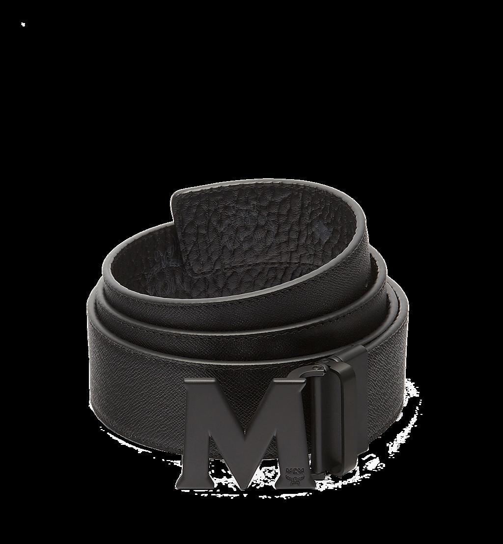 MCM Ceinture amovible Claus M 4,5cm en Visetos Black MXB7SVI10BK001 Plus de photos 1