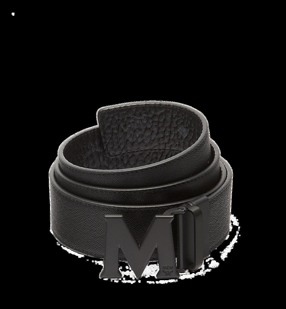 MCM Visetos 系列的 Claus M 1.75 吋可翻轉皮帶 Black MXB7SVI10BK001 更多視圖 1