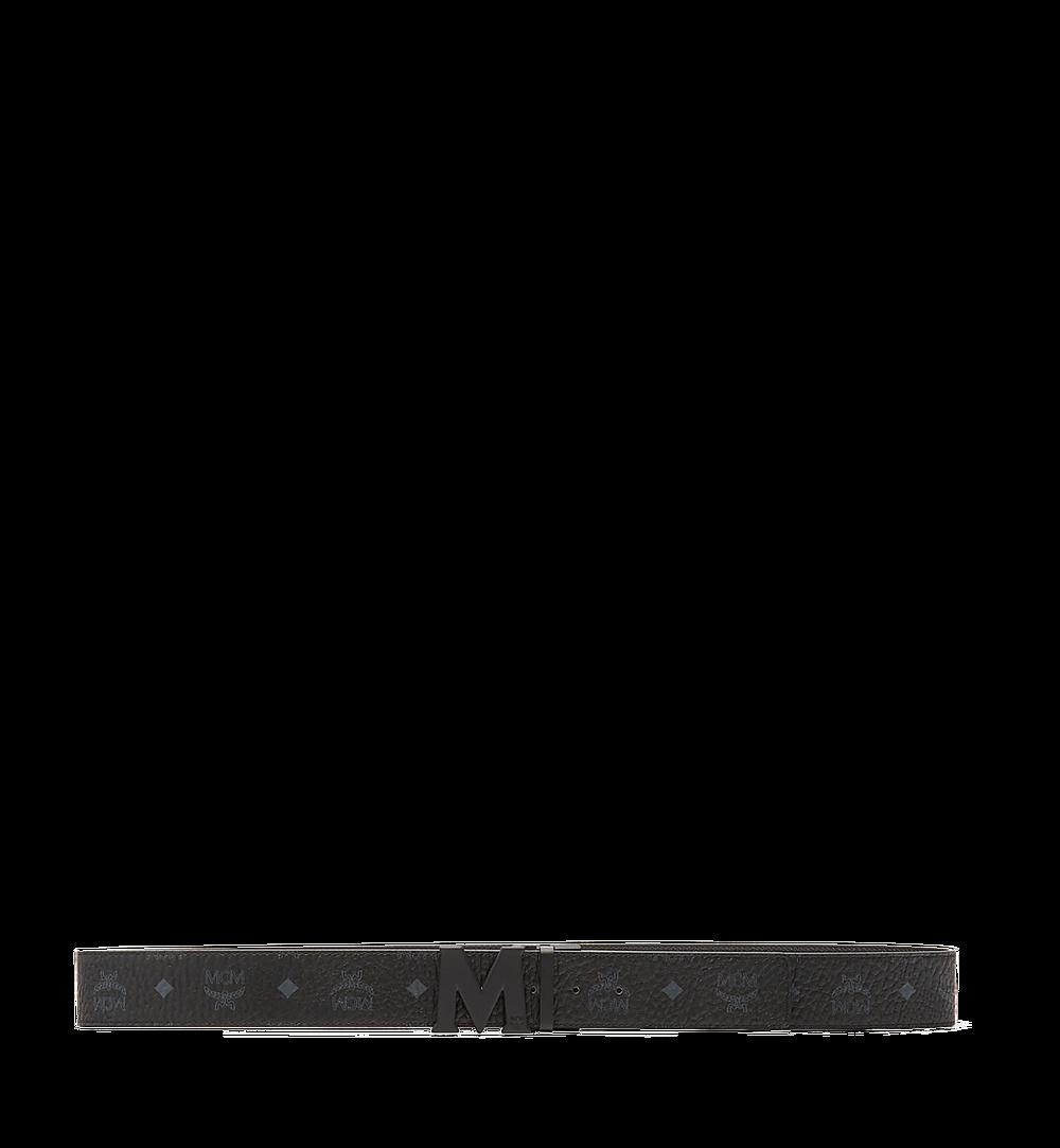 MCM Claus M Reversible Belt 4.5 cm in Visetos Black MXB7SVI10BK001 Alternate View 2