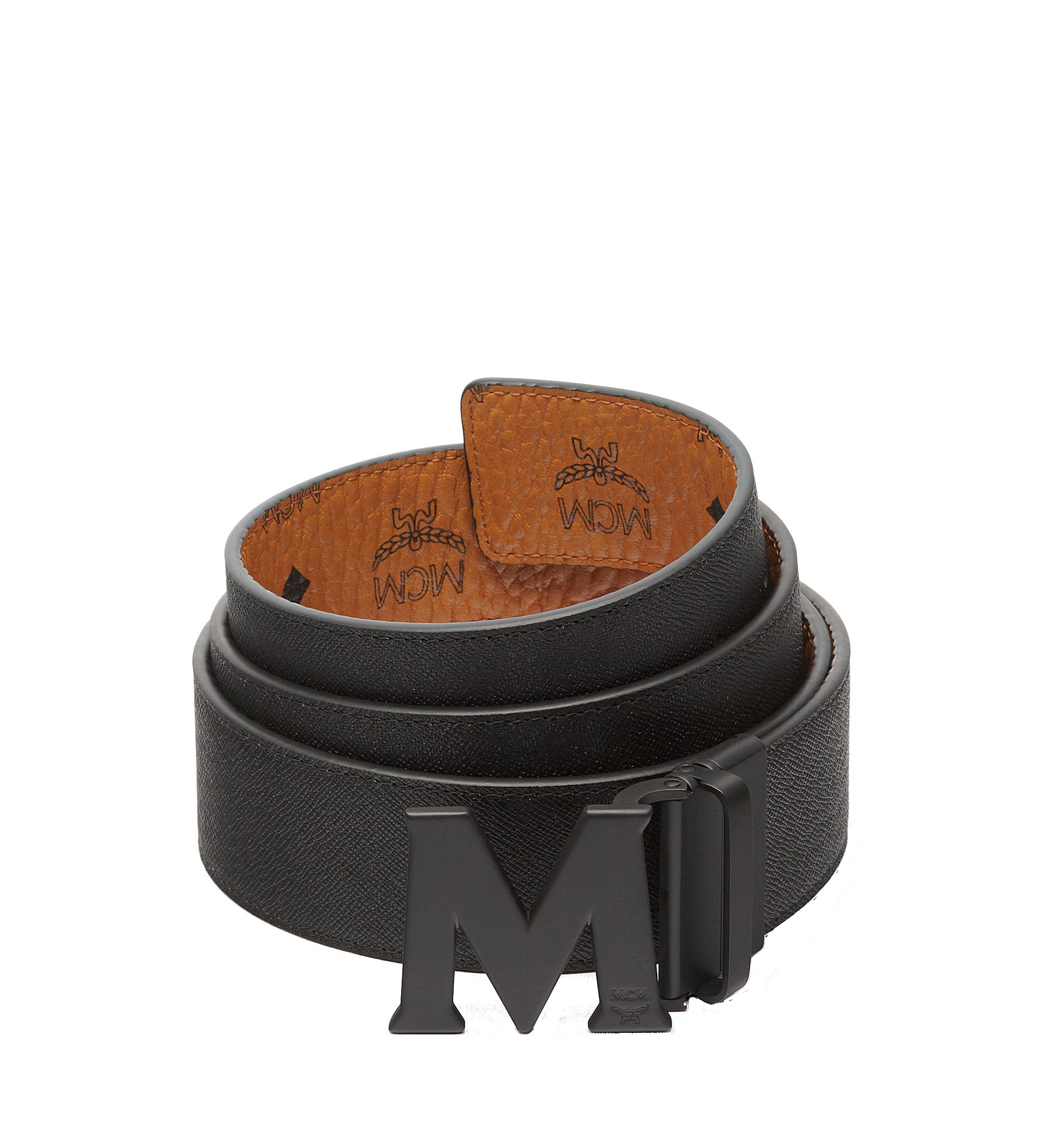 "MCM Flat M Reversible Belt 1.75"" in Visetos Cognac MXB7SVI10CO001 Alternate View 2"