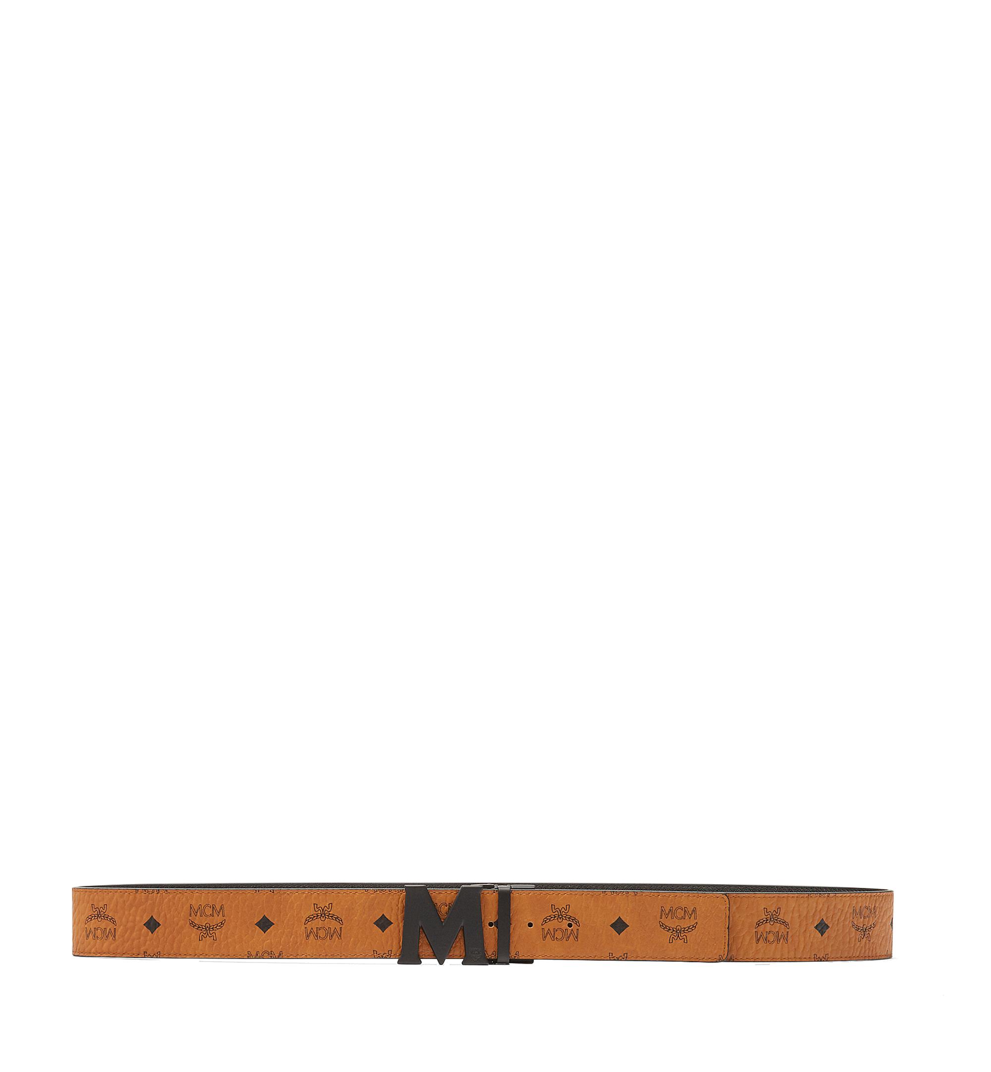 MCM Visetos 系列的 Claus M 1.75 吋可翻轉皮帶 Cognac MXB7SVI10CO001 更多視圖 2