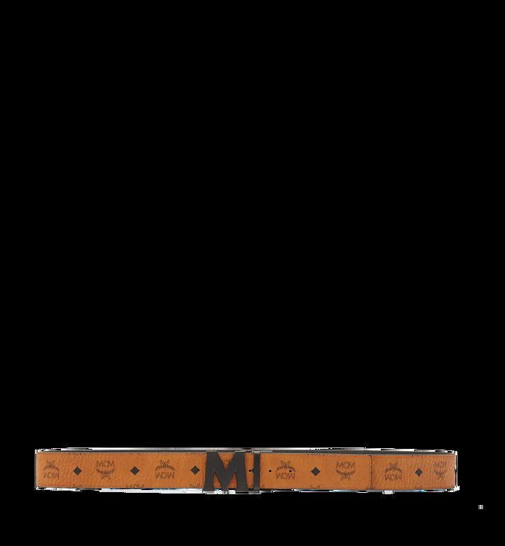 "MCM Flat M Reversible Belt 1.75"" in Visetos Cognac MXB7SVI10CO001 Alternate View 3"