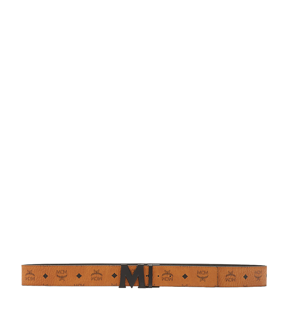 "MCM Flat M Reversible Belt 1.75"" in Visetos Cognac MXB7SVI10CO001 Alternate View 2"