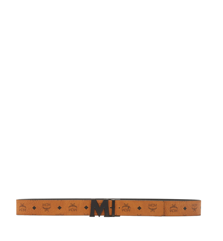 "MCM Flat M Reversible Belt 1.75"" in Visetos Cognac MXB7SVI10CO001 Alternate View 3"