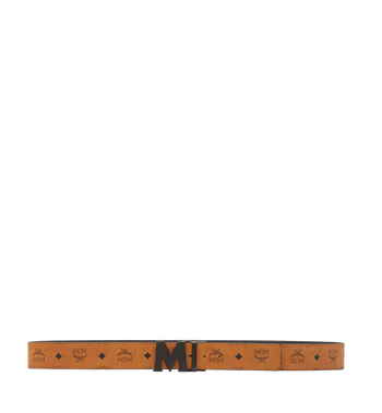 "MCM Flat M Reversible Belt 1.75"" in Visetos Alternate View 3"