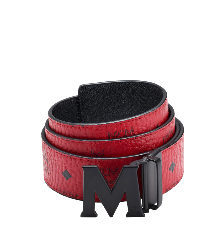 "MCM Claus M Reversible Belt 1.75"" in Visetos Red MXB7SVI10RU001 Alternate View 1"