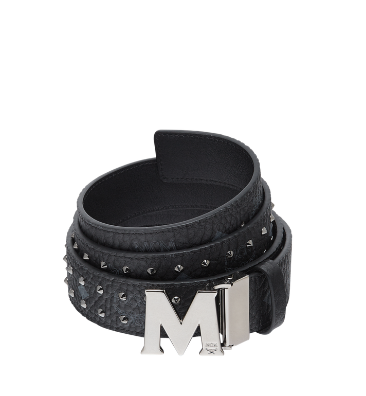 MCM CEINTURE CLAUS M PLATE 3,8 CM EN VISETOS AVEC BORDS CLOUTÉS Alternate View