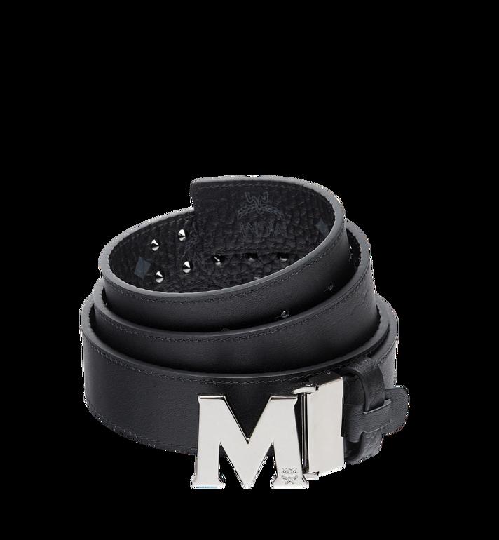 "MCM Claus Flat M Belt 1.5"" in Studded Outline Visetos  MXB8AMM29BK001 Alternate View 2"